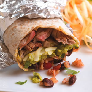 Mexican takeout makeover: big bold burrito with a fraction of the calories of Taco Bell and Chipotle