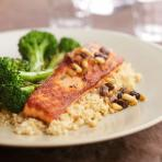 Seared Salmon with Braised Broccoli Recipe