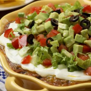 Quick, Healthy Southwestern Layered Bean Dip Recipe