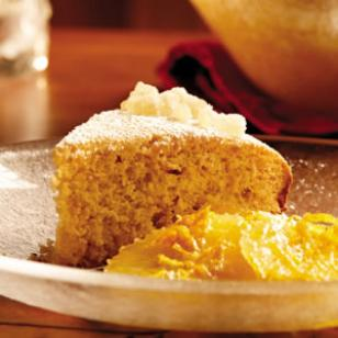 Citrus Ginger Cake with Spiced Orange Compote Recipe