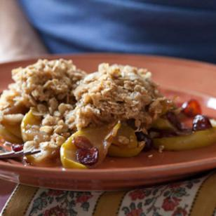 Apple, Pear & Dried Cranberry Crisp Recipe