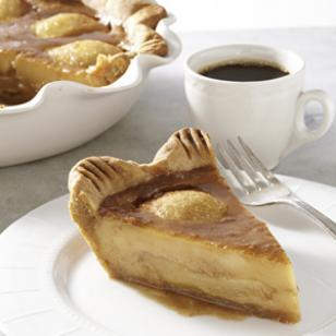 Caramelized Pear Custard Pie Recipe