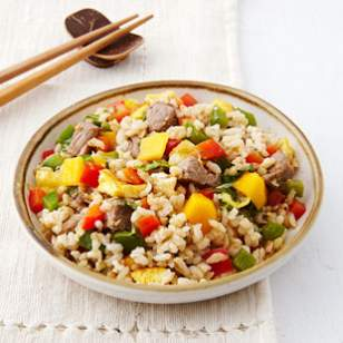 Thai Beef & Mango Fried Rice Recipe