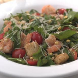 Warm Shrimp & Arugula Salad Recipe