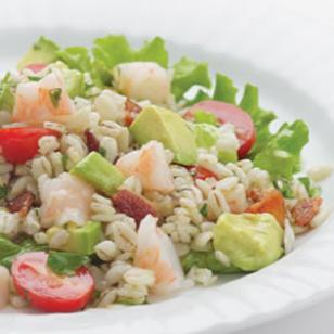 Bacony Barley Salad with Marinated Shrimp Recipe