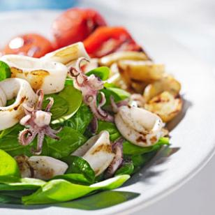 Grilled Calamari & Potato Salad Recipe