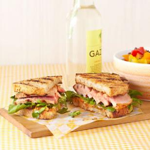 Grilled Tuna Sandwich with Lemon-Chili Mayo for Two Recipe