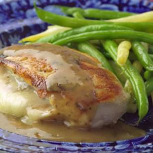 Chicken Stuffed with Golden Onions &amp;amp; Fontina Recipe