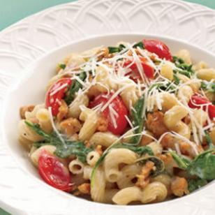 Fusilli with Italian Sausage & Arugula Recipe