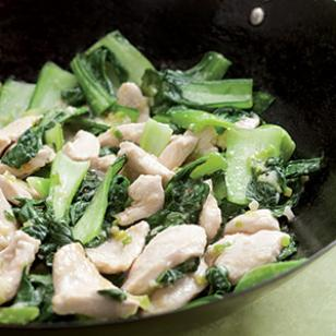 Velvet Chicken with Baby Bok Choy Recipe