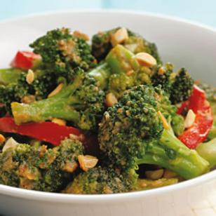 Spicy Stir-Fried Broccoli & Peanuts  Recipe