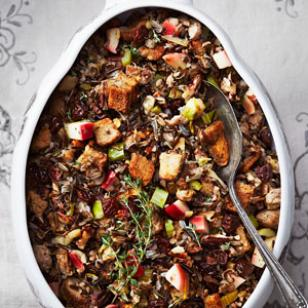 Wild Rice Stuffing with Apple & Sausage Recipe