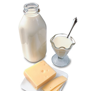Good sources of calcium, milk, eggs & cheese