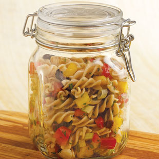 Healthy Kitchen Makeover Challenge Day 9: Save your glass jars and use them to store food
